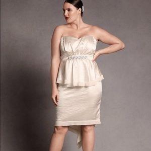 NWT Isabel Toledo Ivory Peplum Dress Sz 20